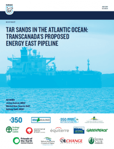 NRDC Energy East Tanker Report Cover