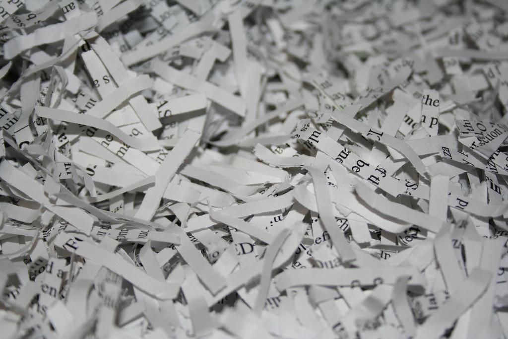 Shredded paper - pic