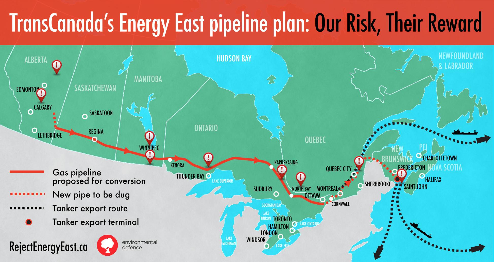 Energy East Pipeline Map Energy East Pipeline   Mind Map