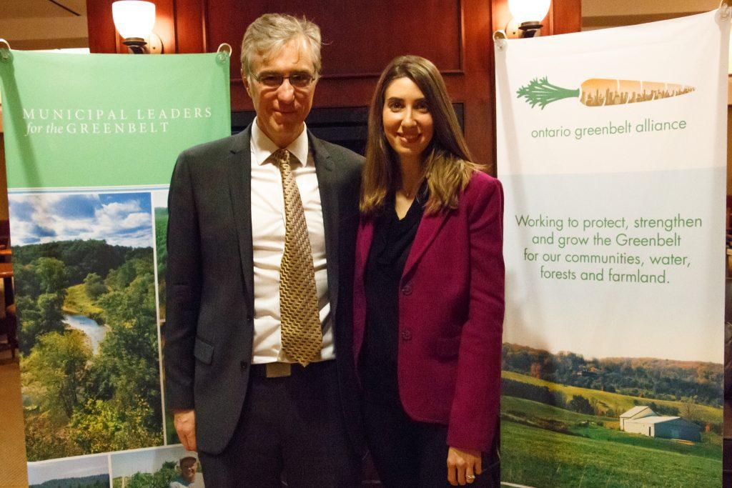 Franz Hartmann and Erin Shapero, Ontario Greenbelt Alliance Steering Committee members