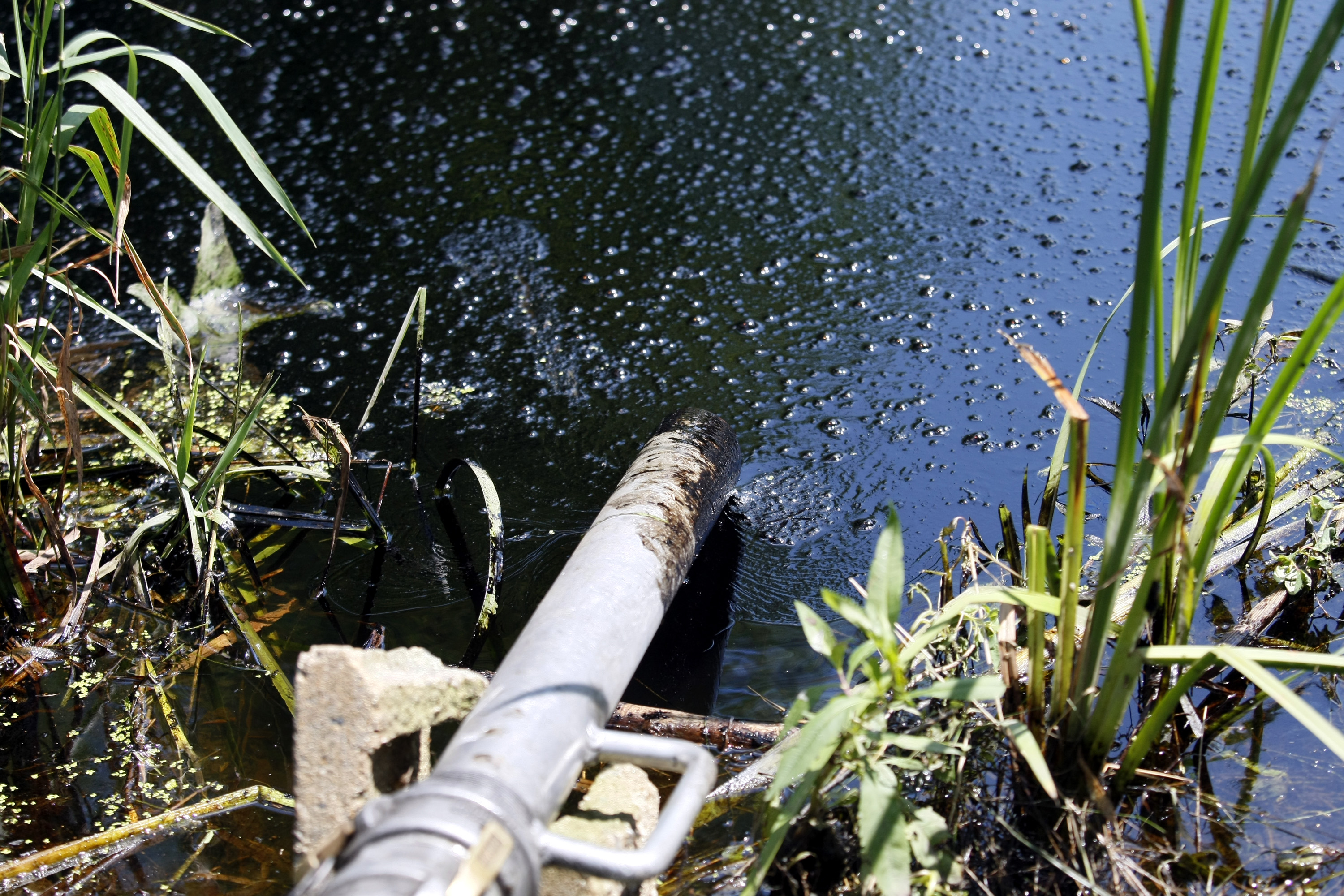 Risk of oil pipelines and water