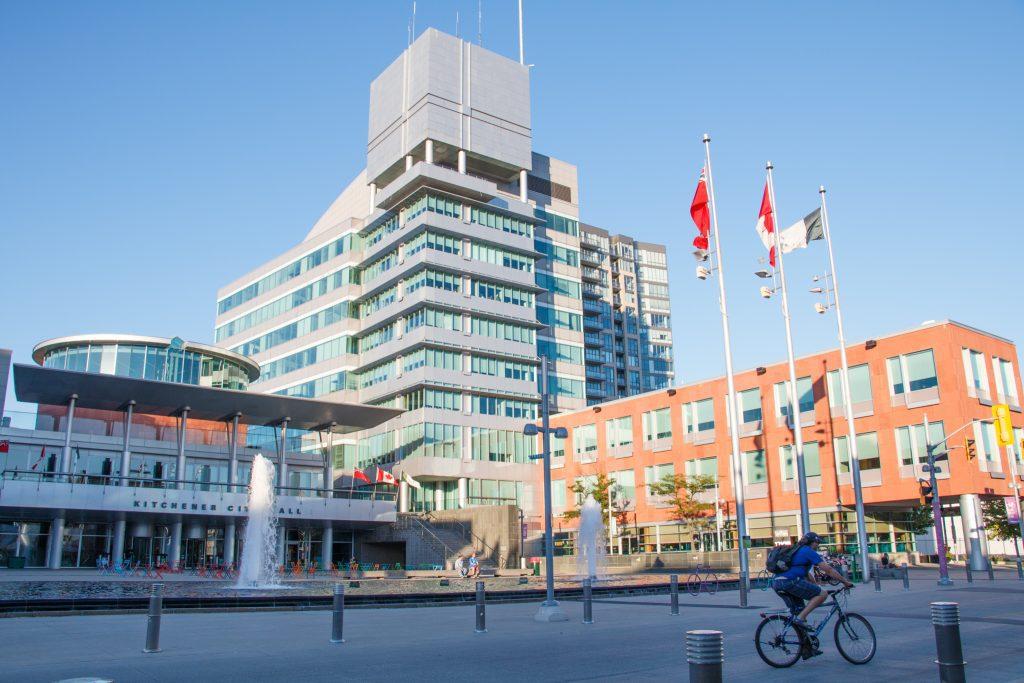 Kitchener City Hall in Waterloo Region