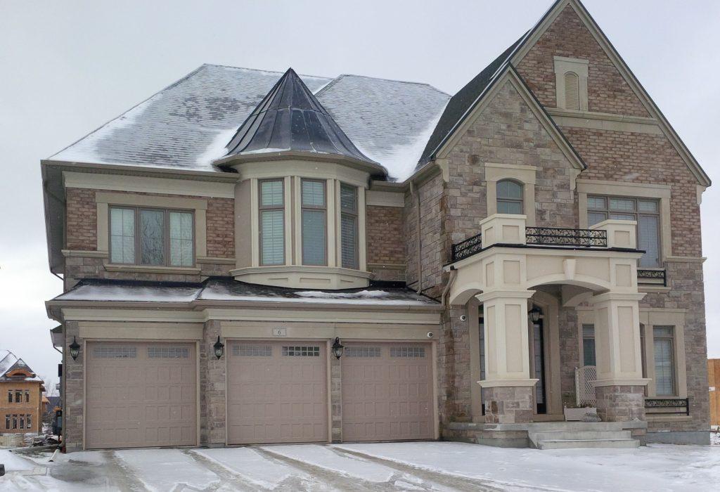 Typical new million dollar sprawl mansion in the GTHA