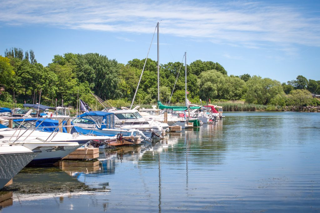 Blue Flag certified Colchester Harbour Marina in Town of Essex, Ontario