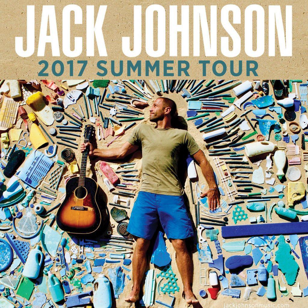 Jack Johnson summer tour poster