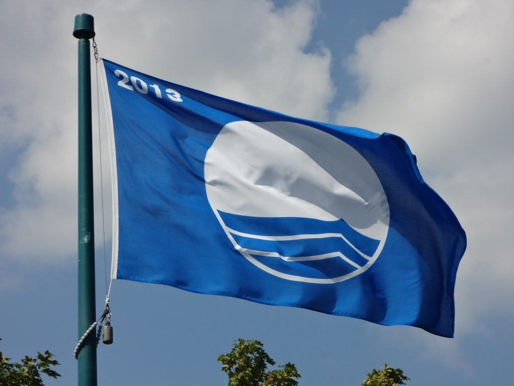 blue flag flying
