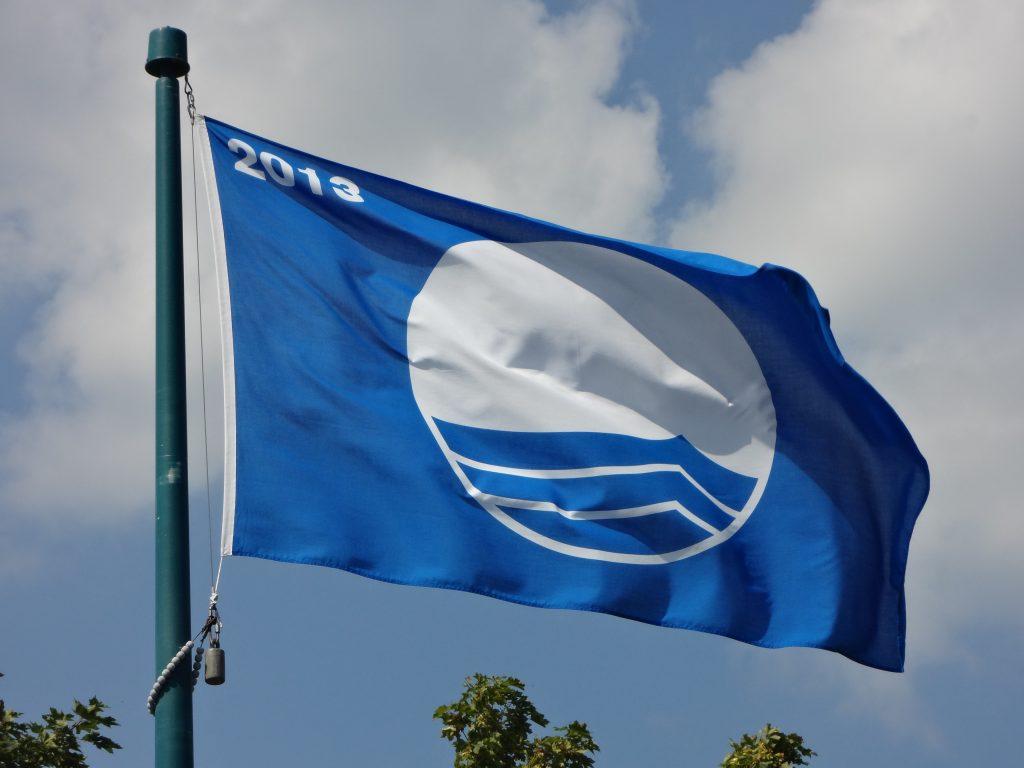 blue flag flying