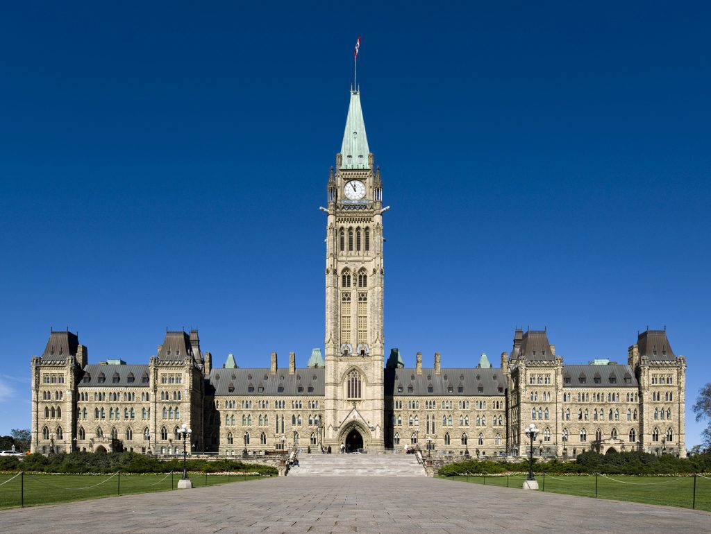 Centre block parliament hill Canada