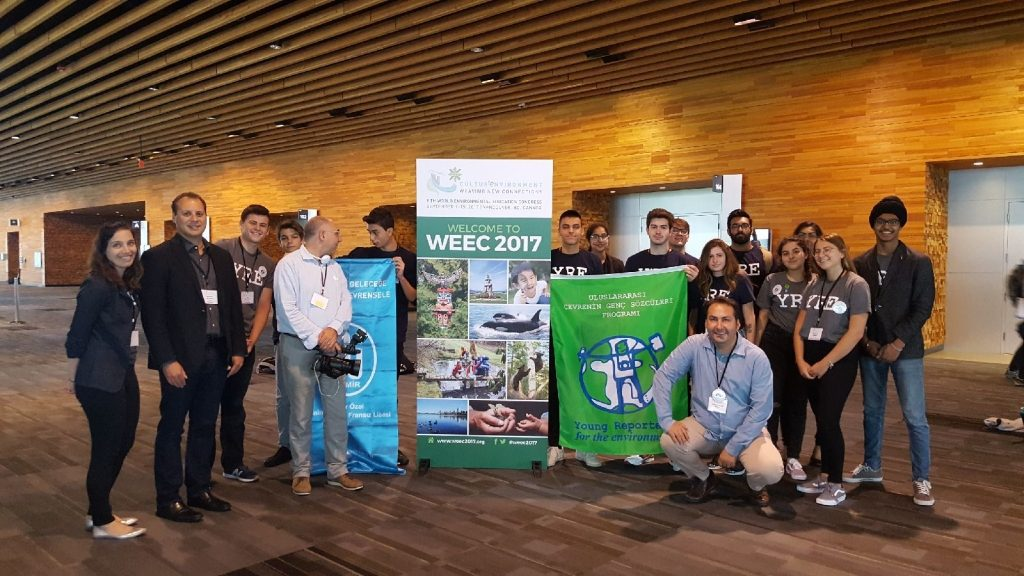 Young Reporters for the Environment from Canada and Turkey at WEEC 2017