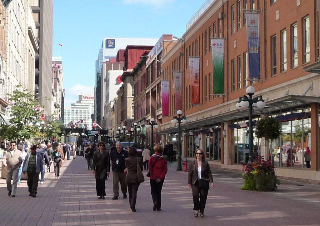 people walking to work in Ottawa