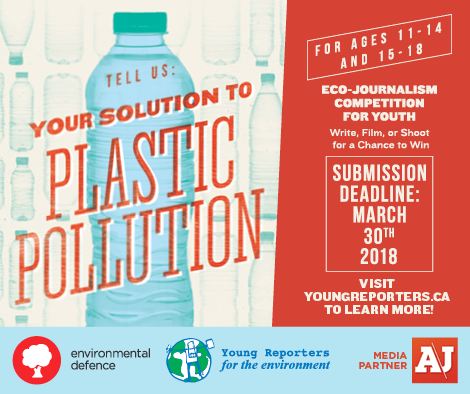 Promo image for Environmental Defence's national eco-journalism competition for youth