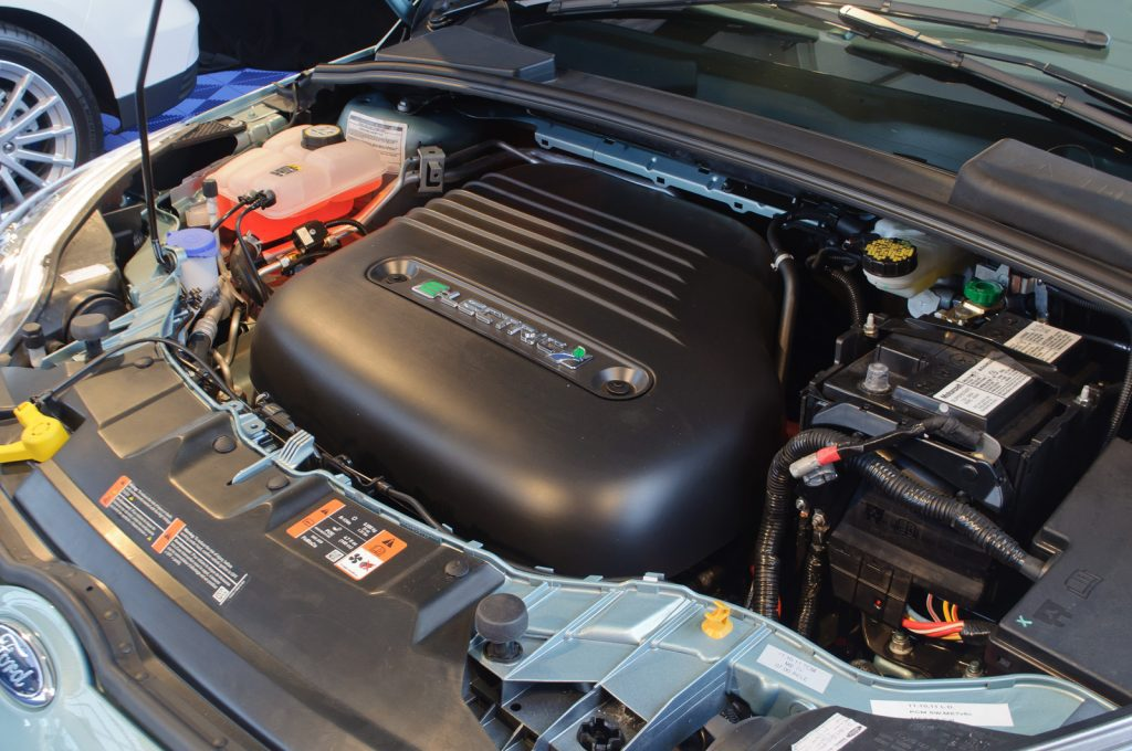 Electric car under the hood