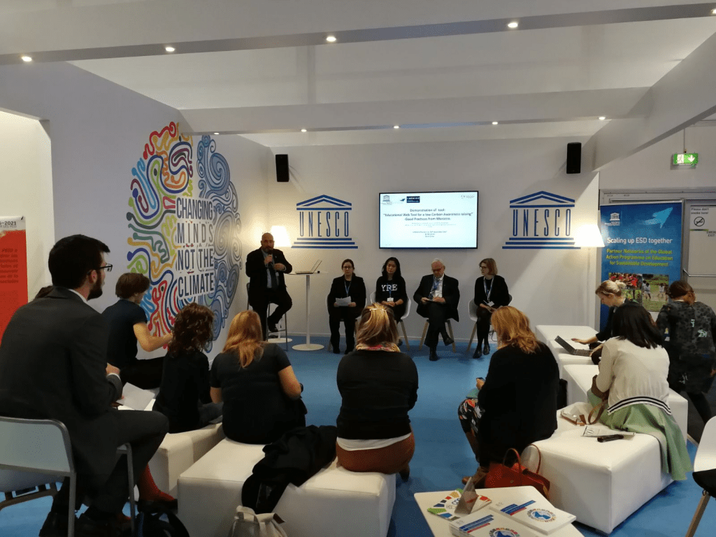 Speaking on a UNESCO panel on climate education at COP23