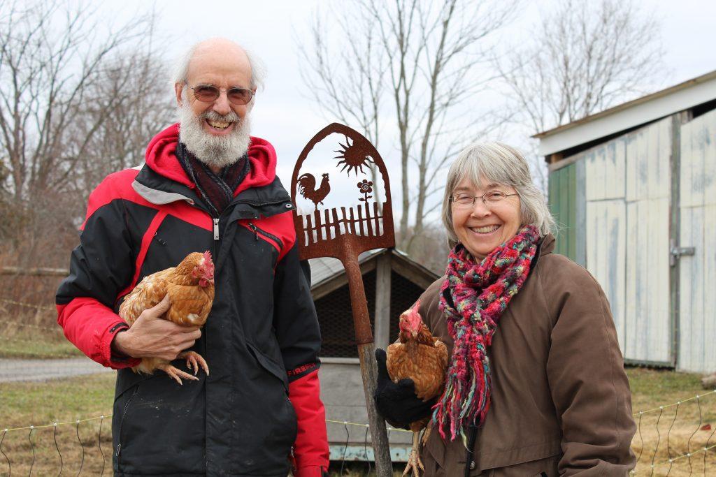 Organic farmers, Ella Haley and Richard Tunstall, give us a tour of their farm.