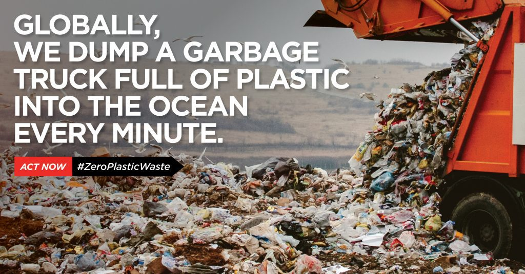 Globally, we dump a garbage truck full of plastic into the ocean every minute