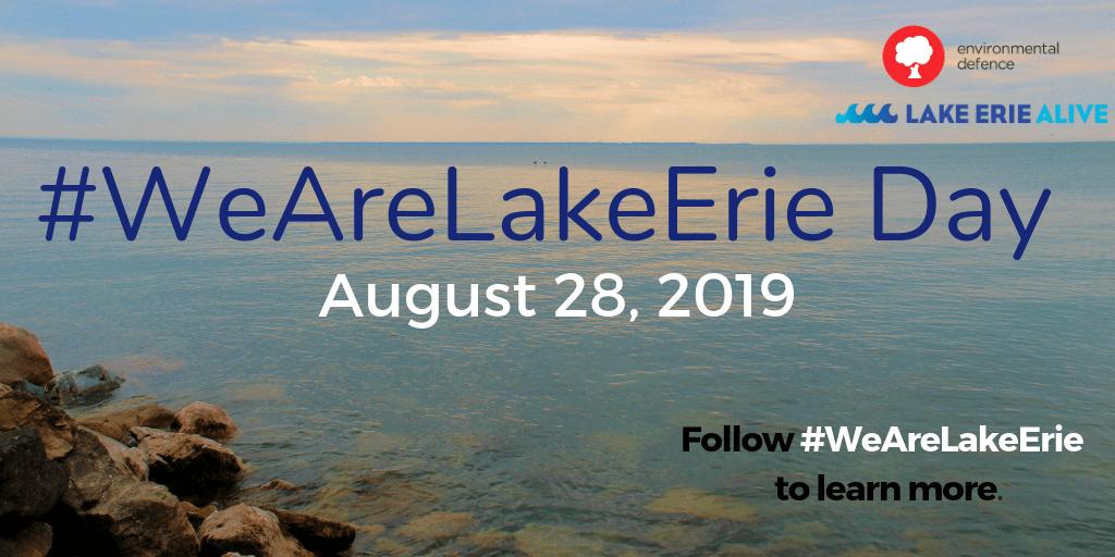 August 28 is #WeAreLakeErie Day