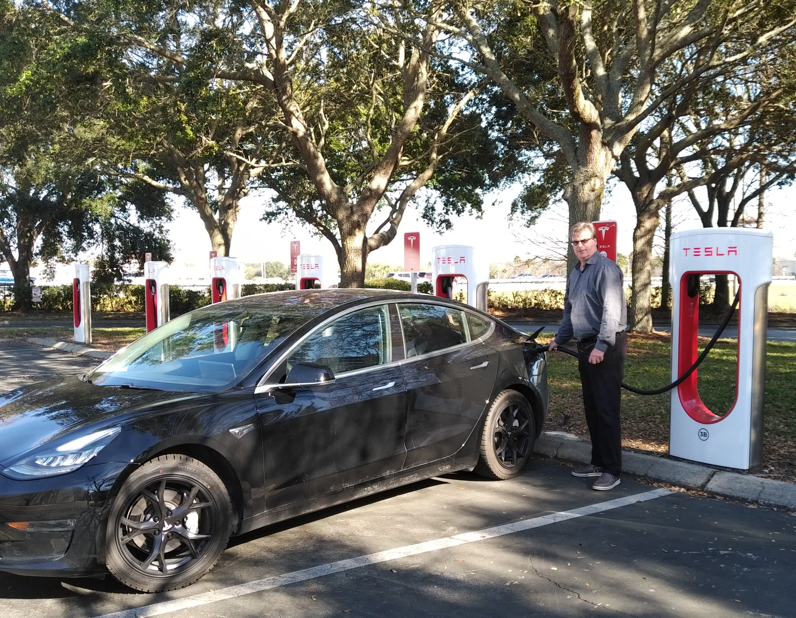 tesla electric vehicle charging