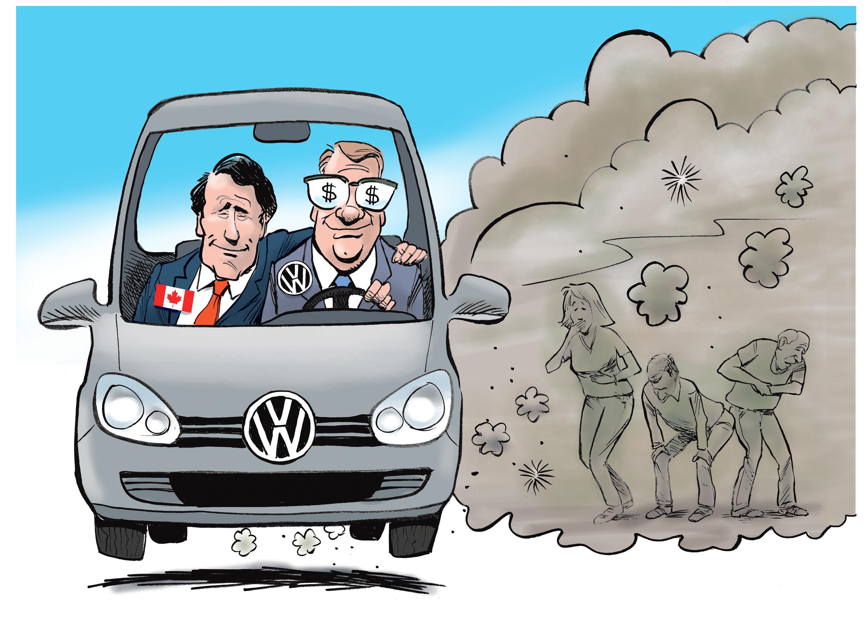 Volkswagen cartoon canada