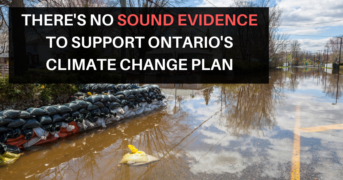 Auditor General says there no sound evidence to support Ontario's climate change plan