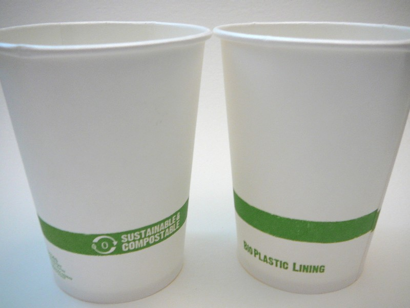 compostable plastic cups