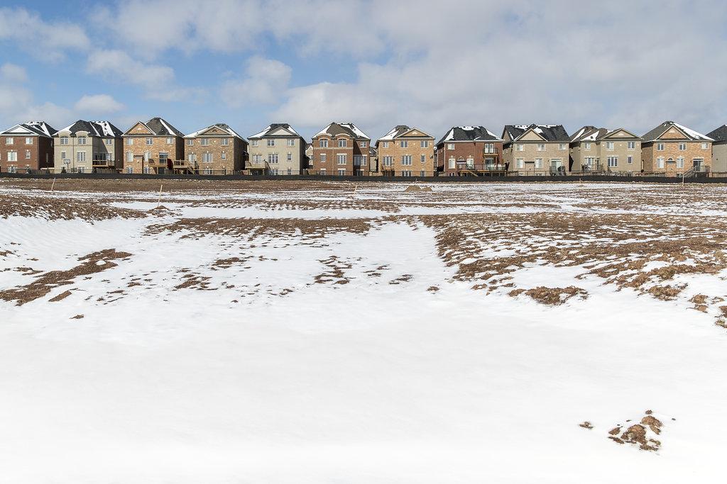 Suburban sprawl on former farmland