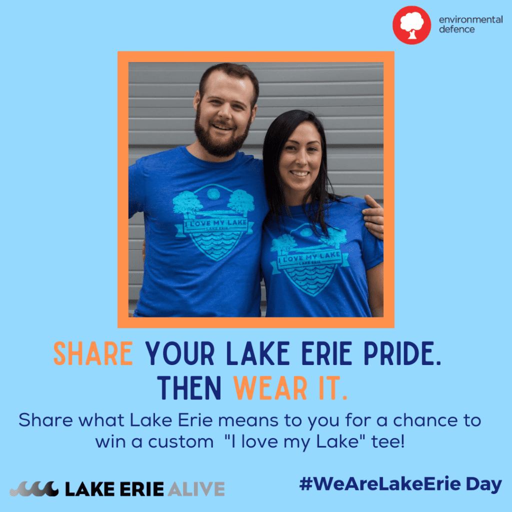 promotional graphic for #WeAreLakeErie Day t-shirt contest